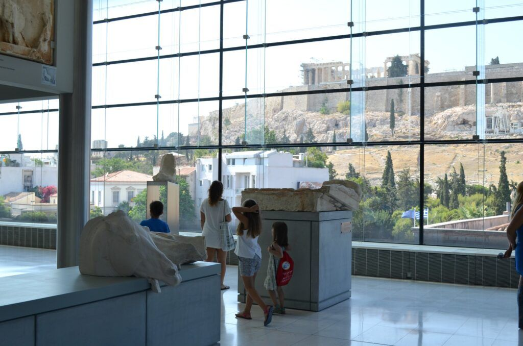 Acropolis Museum with kids, Athens, Greece