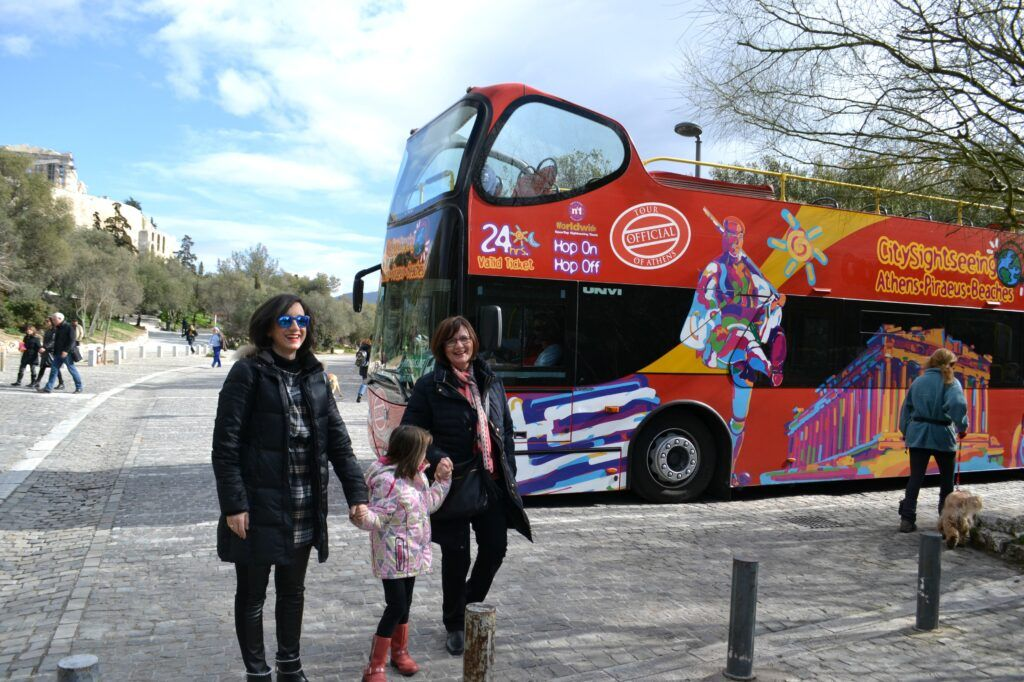 A guided tour around Athens with a Hop on Hop off bus