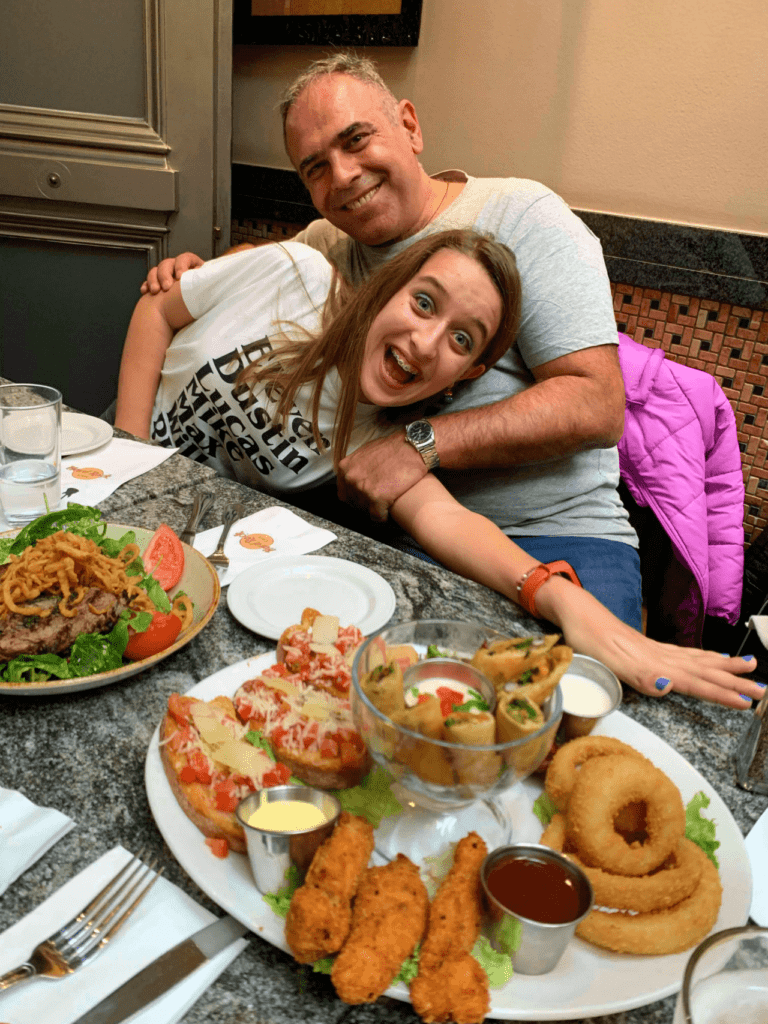 Family lunch at the Hard Rock Cafe Athens