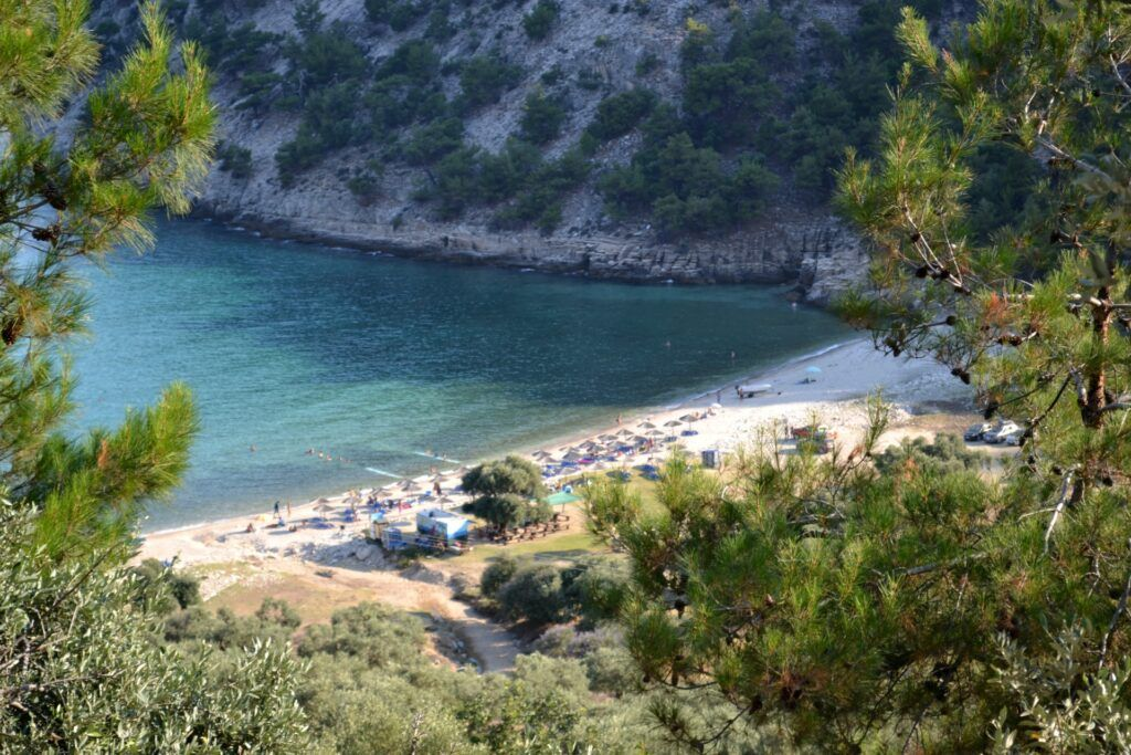 Vacations in Thasos, a green greek island, Greece